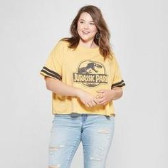 4cc9e6bc5d7bf Women s Jurassic Park Plus Size Short Sleeve Logo Graphic T-Shirt (Juniors )