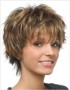 Obraz znaleziony dla: Fine Hairstyle Short Hair Cuts For Women Over 50 Shaggy Short Hair, Short Hairstyles Fine, Short Shag Hairstyles, Choppy Hair, Hairstyles Over 50, Haircuts For Long Hair, Cool Hairstyles, Hairstyle Short, Curly Pixie