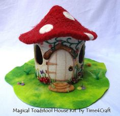 Magical ToadstoolHouse Craft Kit instuctions and all materials included. You tube support video also available .