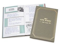 Amazing Mother's Day gift for Grandma: My Life Story - So Far Memory Journal