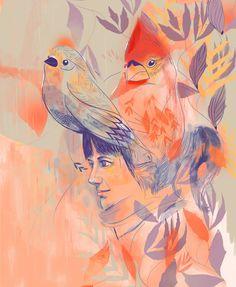 Face(s)   part 1   by Eugenia Mello, via Behance