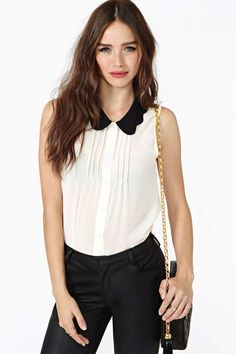 Scalloped Tux Top