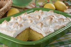 Lemon Meringue Cake | Transform one of your favorite lemon pies into one of your new favorite lemon cakes with this easy recipe. (Plus, it's made with only 5 ingredients!)