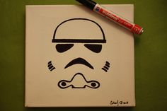 Star Wars Clonetrooper Minimalism   Perfect for Freezer Paper T-shirt print.