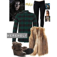 Creatures-Like the shirt and the fur vest. Could be fur clothing underneath… Halloween 2015, Adult Halloween, Halloween Stuff, Halloween Ideas, Halloween Costumes, Halloween Room Decor, Fur Clothing, Fandom Outfits, Cute Casual Outfits