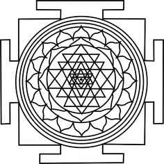 How to draw Shri Yantra | sacred geometry | Pinterest ...