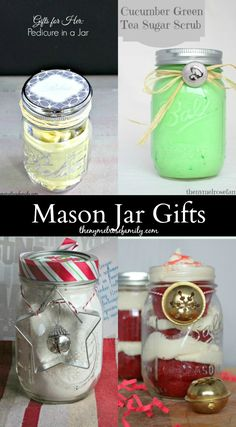 Mason Jar Gift Ideas!!  Looking for some fun gift ideas? The NY Melrose family has some cute jar gifts that I think you'll love! #masonjarcrafts #teachergifts