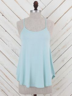 Altar'd State Tiger Lilly Tank in Light Blue. Front view