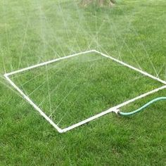 How to Build a PVC Sprinkler for your Vegetable Garden and by garden, I mean children...