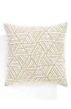 Nordstrom at Home Embroidered Triangle Accent Pillow available at #Nordstrom