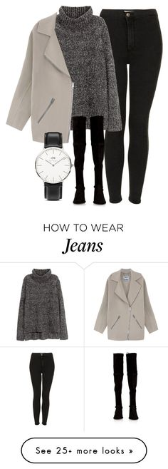 """""""Untitled #4522"""" by laurenmboot on Polyvore featuring Topshop, H&M, Acne Studios, Stuart Weitzman and Daniel Wellington"""