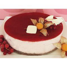 Berry Yoghurt Fantasy Cake in Cyprus - Moist white and dark chocolate sponge topped with fresh yoghurt cream and mouth watering raspberries.