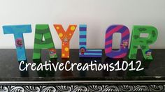 Bubble Guppies Inspired Letters Bubble Guppies Decorations, Bubble Guppies Birthday, Third Birthday, 2nd Birthday Parties, Birthday Ideas, Diy Letters, Wooden Letters, First Birthdays, Party Time