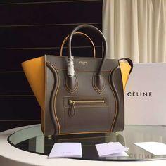 Celine Two-tone Micro Mini Luggage Handbag 100% Authentic Celine Bag Sale 76fc87c368f19