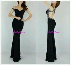 black backless long dress