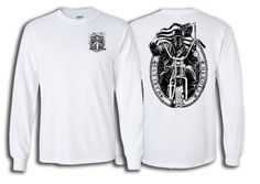 Skull Rider (White): Show your support for our Service Members with our Harleys for Heroes Skull Rider T-Shirt!