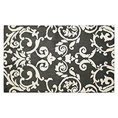 "Amazon.com: Laura Ashley Halstead Plush Knit Microfiber 24"" x 36"" Accent Rug, Gray: Home & Kitchen"