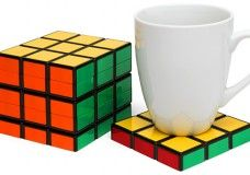 Coasters Stack To Form a Fake Rubik's Cube