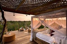 Lion Sands Reserve prides itself on its holistic approach to safari and even employs a full time ecologist to monitor the effect of commercialization on the wilderness. The reserve, spread across Sabi Sands Private Game Reserve and Kruger National Park, includes four luxurious lodges and four breathtaking treehouses for guests to experience.