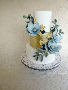 Something Blue - by FireflyIndia @ CakesDecor.com - cake decorating website