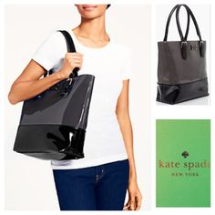 New Kate Spade Ryan Street Carlisle tote New unused Kate Spade tote. Gray/black patent leather. All info in the third picture kate spade Bags Totes
