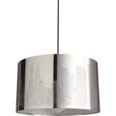 Suspension New york INSPIRE, chromé, 60 watts, diam. 40 cm