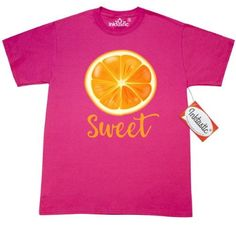 Inktastic Sweet Orange T-Shirt Fruit Citrus Juicy Healthy Pinkinkartkids Food Drinks Chef Cook Kitchen Coffee Mens Adult Clothing Apparel Tees T-shirts, Size: Small, Pink