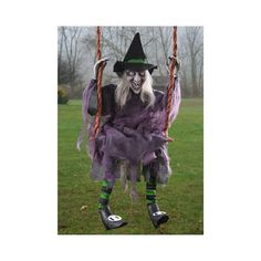 Halloween Swinging Witch great for either indoor or outdoor Halloween Party Supplies, Halloween Party Decor, Halloween House, Holidays Halloween, Halloween Crafts, Outdoor Halloween, Halloween Stuff, Haunted Halloween, Halloween Witches