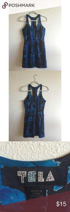 Urban Outfitters - Tela Blue summer dress (S) Runs small in the thighs, cute summer dress easy to dress up with heels or down for the beach!  Buttons on top make cleavage adjustable. Urban Outfitters Dresses