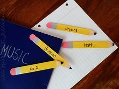 Popsicle Stick Pencil Bookmarks