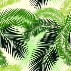 Download - Seamless color palm leaves pattern — Stock Illustration #74550283