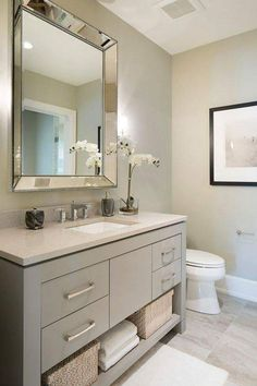 Vanity Paint Color Is Sherwin Williams SW 7673 Pewter Cast.