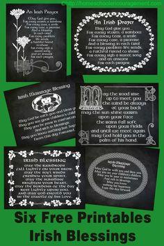 Irish Blessings and Prayers Free Printables