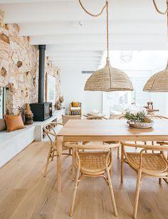 Kyal and Kara Dining Room Inspiration, Home Decor Inspiration, Estilo California, Home Interior Design, Interior Decorating, Australian Interior Design, Decorating Ideas, Living Room Decor, Living Spaces