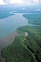 Pequeños poblados de comunidades negras en las zonas ribereñas de los estuarios aledañas a los manglares.