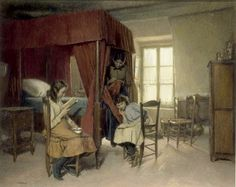 Delachaux, Léon (1850-1919) Intérieur Berrichon
