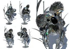 Koala  Recycled CD sculpture by Sean E Avery  Should I start collecting my old cds?
