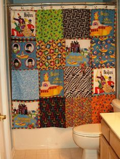One Of A Kind Handmade Shower Curtain Made With By Greatfulthread