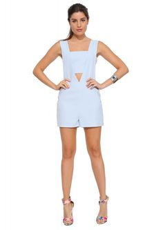 English Factory Emma Romper in Light blue | Necessary Clothing