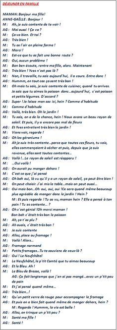 Cours de français.