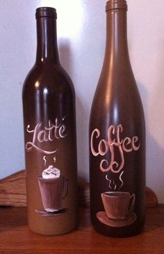 Coffee Wine bottles