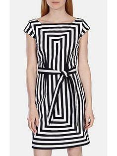 Graphic Stripe Shift Dress