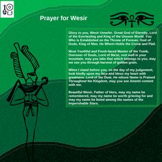 Prayer to Wesir Check out my Facebook Page [Neferkara] for more Prayer Art and access to my videos on Ancient Egyptian history and religion, as well as my Kemetic beliefs
