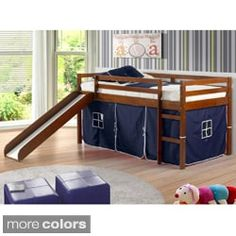 408562b022f Shop for Donco Kids Twin-size Tent Loft Bed with Slide. Get free delivery  at Overstock.com - Your Online Furniture Outlet Store! Get 5% in rewards  with Club ...