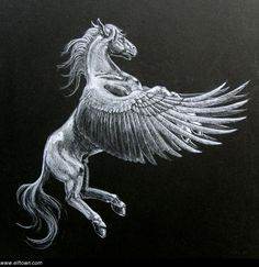 PEGASOS (or Pegasus) was an immortal, winged horse which sprang forth from the neck of Medousa when she was beheaded by the hero Perseus.