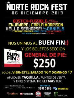 Agenda Pop Société | Norte Rock Fest se une al Buen Fin: hasta el domingo 17, los boletos General de pie tendrán un costo de $250.