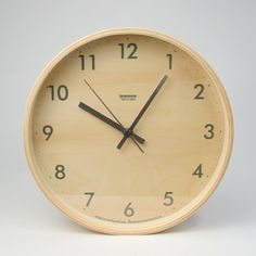 Japanese product designer and architect Moritoyshi created this warm and woody clock for respected clock maker Lemnos. The plywood construction and cris. Contemporary Clocks, Modern Wall, Plywood Walls, Wall Clock Design, Wood Clocks, Japanese Design, Natural Life, Homemaking, Home Accessories