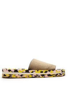 e1f62d5bc683 Tania Elastic-Strap Slides In Khaki Pink