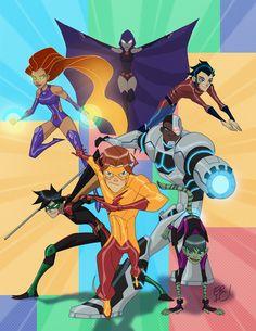 "Teen Titans Go - Eric Guzman. This should be a new show not ""Teen Titans Go"" Teen Titans Go, Teen Titans Fanart, Kid Flash, Deathstroke, Comic Books Art, Comic Art, Chat Origami, Raven Beast Boy, Desenhos Cartoon Network"