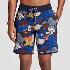 68a2c65771 Men's Board Shorts Multi Floral Print - Mossimo Supply Co.™ Men's  Swimsuits, Swimwear